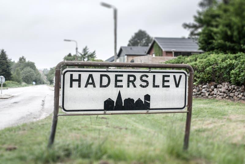 Haderslev的城市标志 免版税库存图片