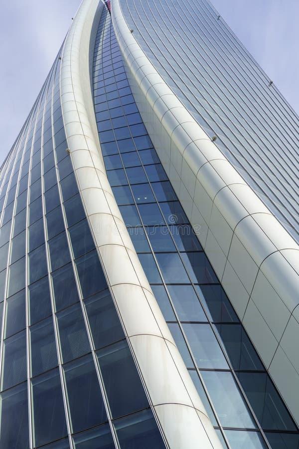 Hadid tower at Citylife, Milan stock photography