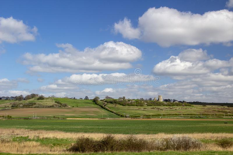 Hadleigh Castle ,Essex, England, United Kingdom. Hadleigh Castle and surrounding countryside, Essex, England, United Kingdom royalty free stock photo