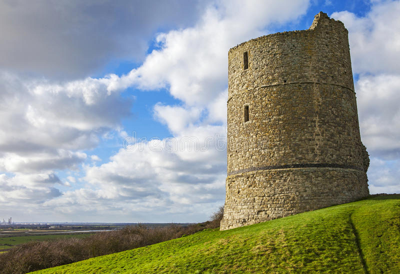 Hadleigh Castle in Essex. A view of the historic remains of Hadleigh Castle in Essex, England royalty free stock photography