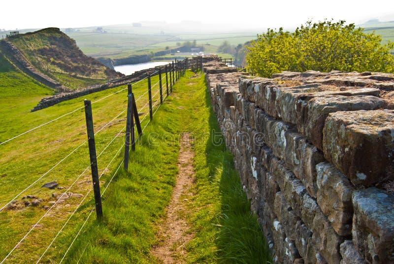 Hadrian的墙壁 库存图片