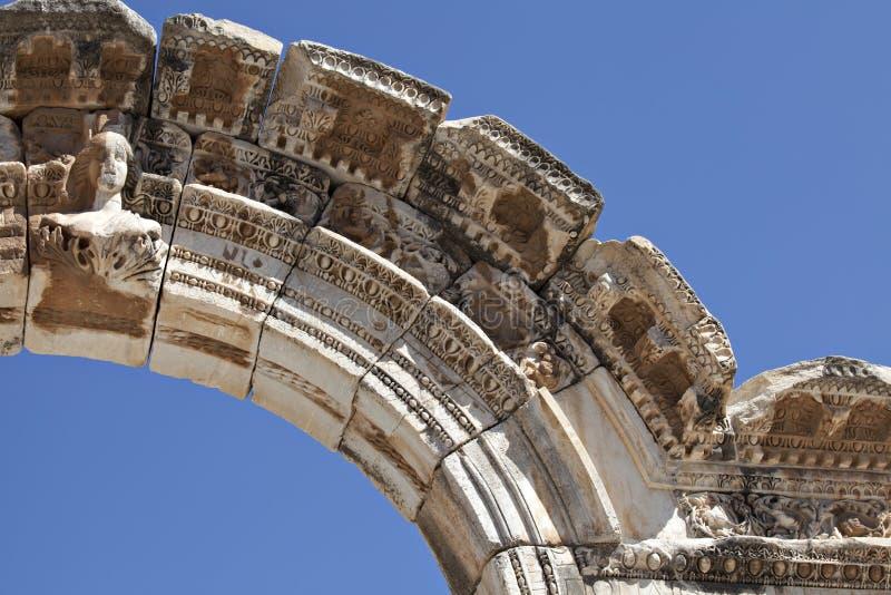 Hadrian的曲拱, Ephesus胸象 库存图片