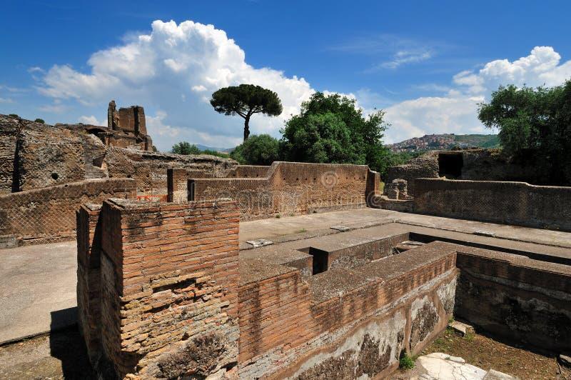 Hadrian罗马tivoli别墅 库存照片