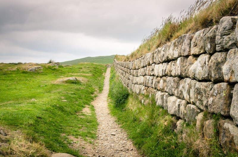 Hadrian Ścienny i Chmurny niebo obraz royalty free