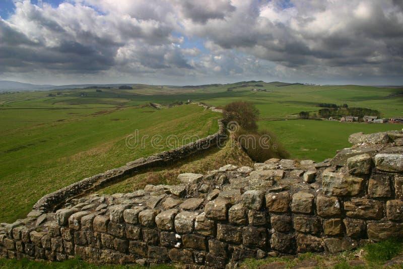 hadrian стена s стоковое фото rf
