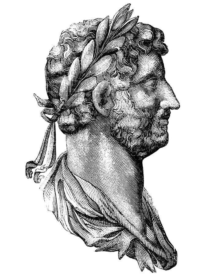 hadrian royaltyfri illustrationer