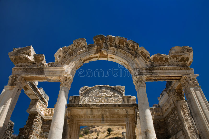 hadrian ephesus świątynia obraz royalty free
