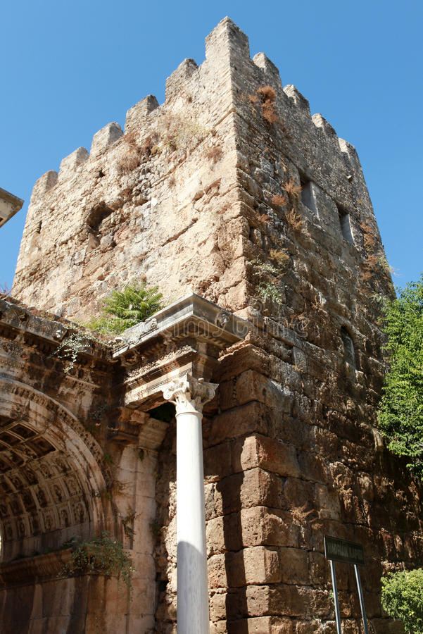 Hadrian Gate In Antalya, Turkey. Stock Images
