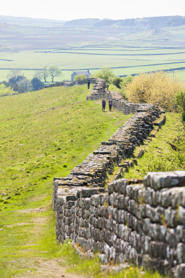 Hadrian& x27; pared de s, Northumberland, Inglaterra imagen de archivo