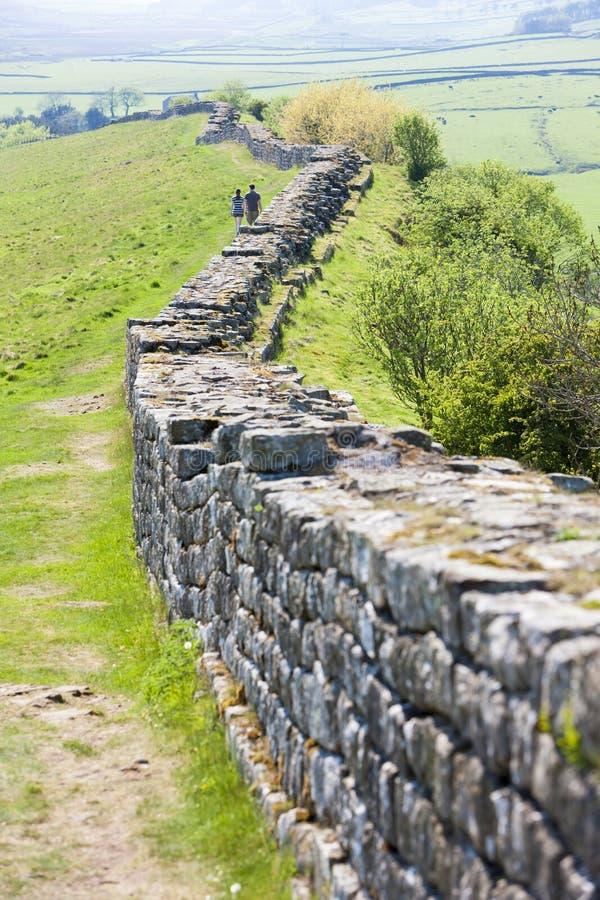 Hadrian& x27; pared de s, Northumberland, Inglaterra imágenes de archivo libres de regalías