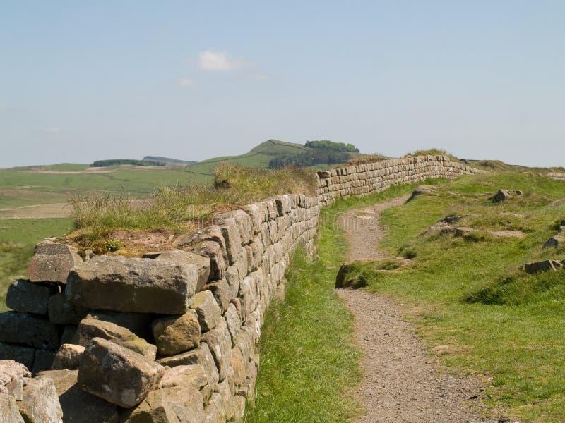 Hadrian ` s ściana, Northumberland obrazy stock