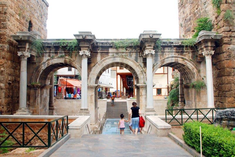 Hadrian's gate stock photos