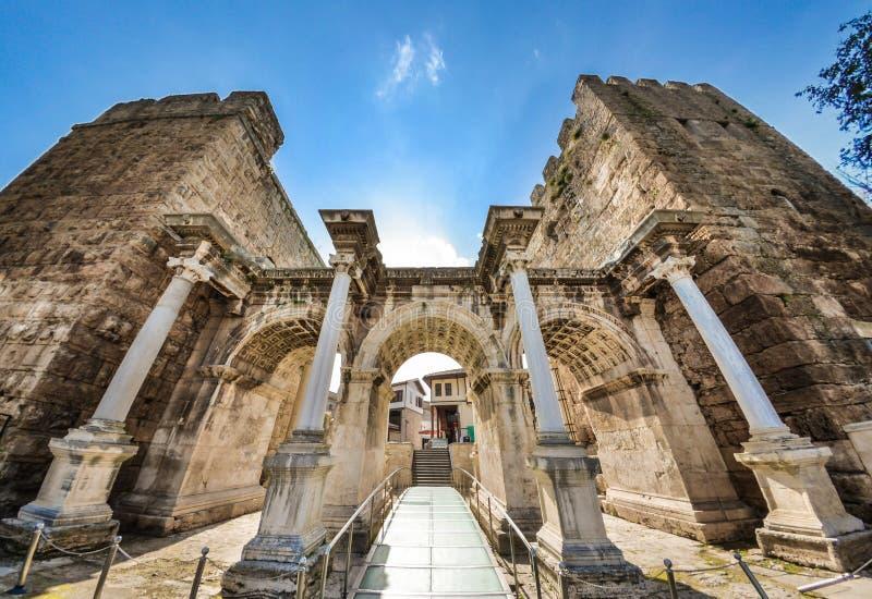 Hadrian`s Gate Antalya stock photo