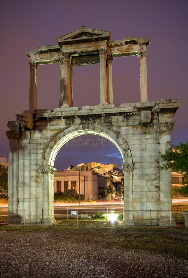 Hadrian`s Gate, Athens, Greece royalty free stock photo