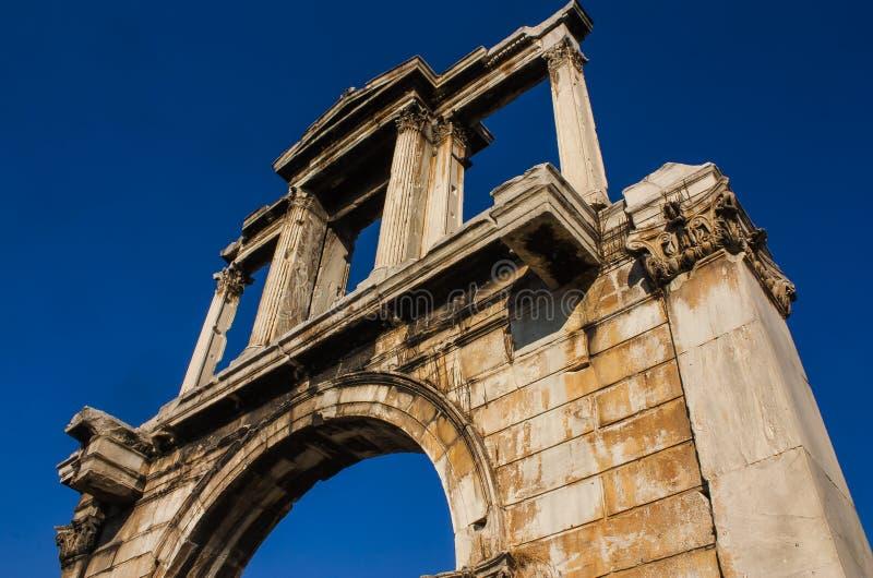 Hadrian's gate stock photography