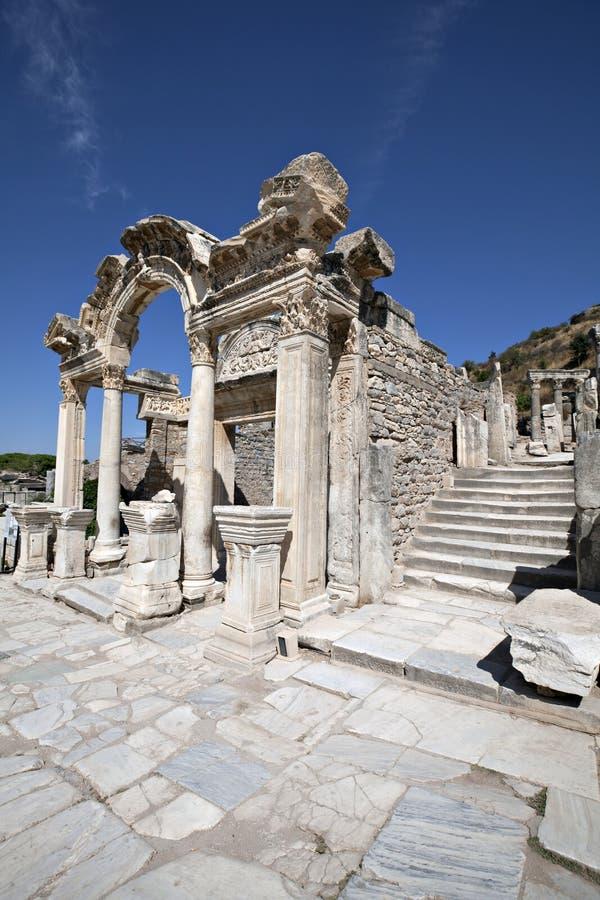 Hadrian S Temple, Ephesus Stock Images