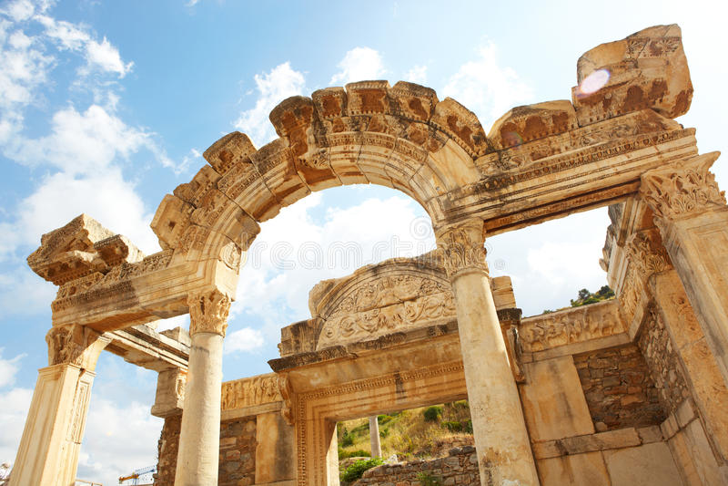 Hadrians Tempel Lizenzfreie Stockfotos