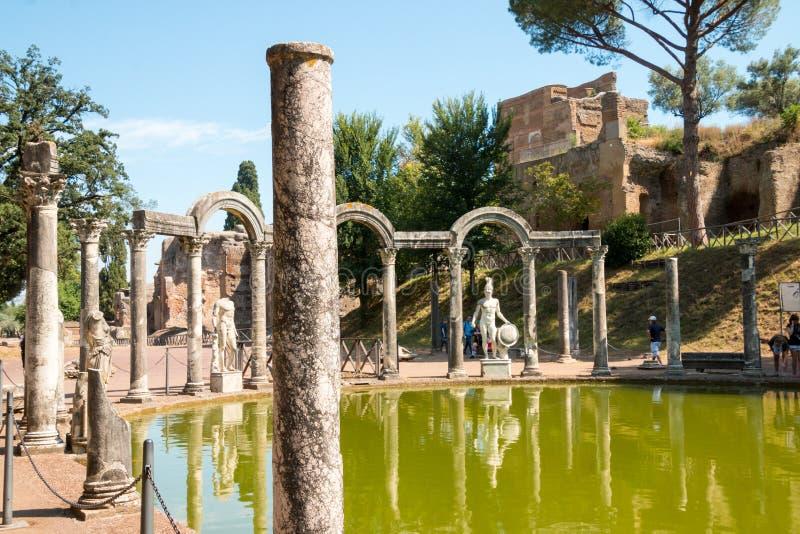 Hadrians villa, Romanens Emperors 'villa, Tivoli, förutom Rome, Italien, Europa arkivbilder