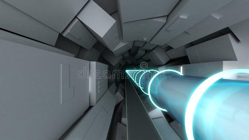 Hadron collider vector illustration