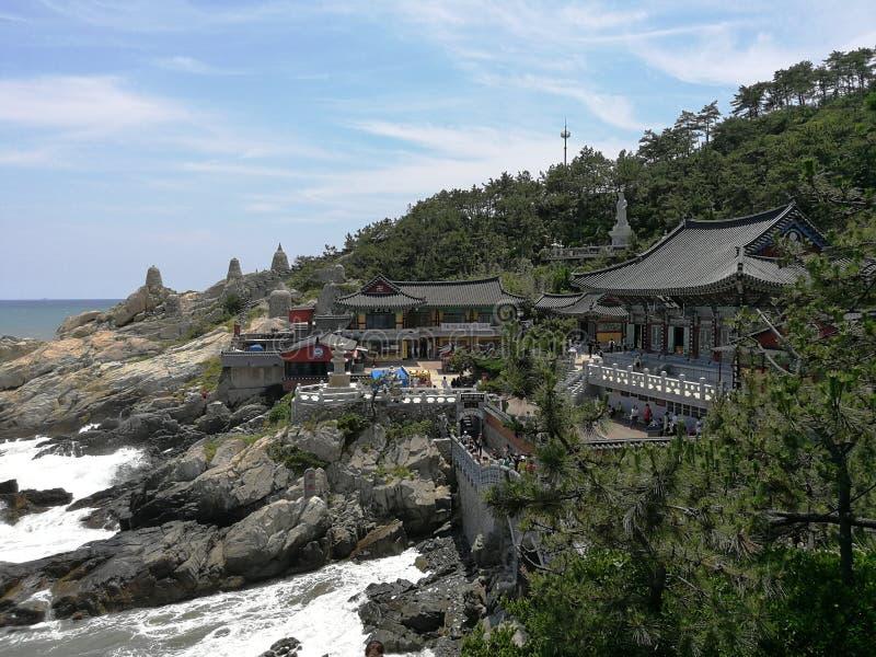 Haedong Yonggungsa寺庙,釜山 免版税库存图片