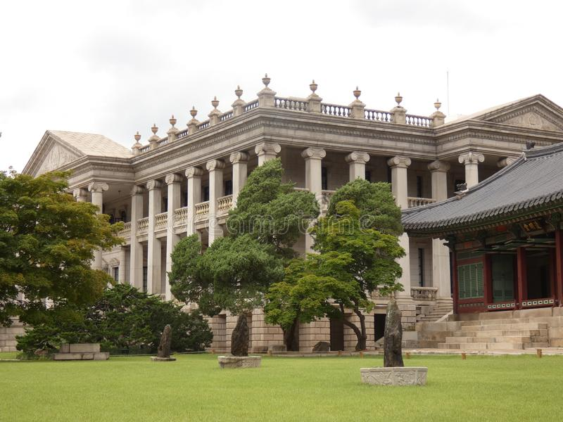 Haedong Yonggungsa. Picture of the museum in the Deoksugung palace located at Seoul stock images