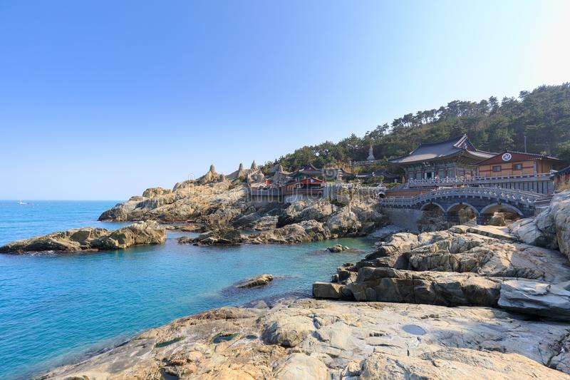 Haedong yonggungsa seaside temple in Busan. South korea stock photo