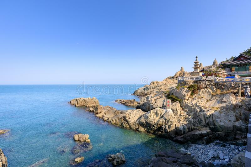 Haedong yonggungsa seaside temple in Busan. South korea stock images