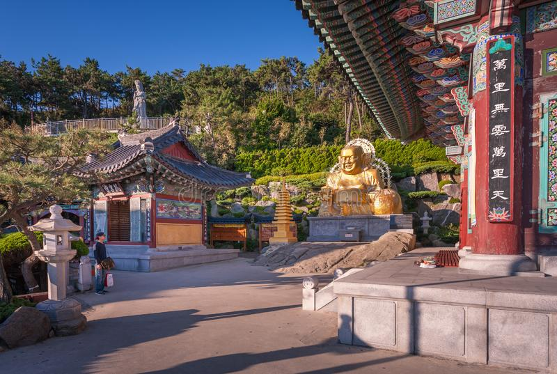 Haedong Yonggungsa Temple in Busan, South Korea. royalty free stock images