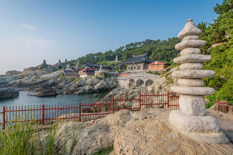 Haedong Yonggungsa Temple in Busan, South Korea stock photography
