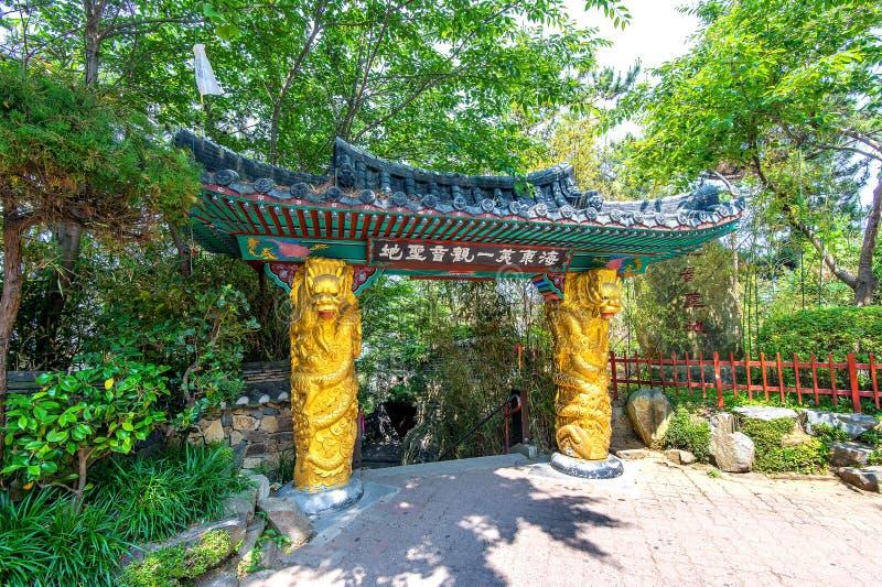 Haedong Yonggungsa Temple in Busan, Korea. stock photo