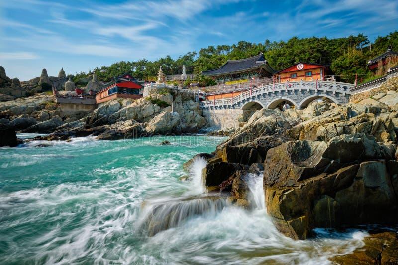 Haedong Yonggungsa Temple. Busan, South Korea. Haedong Yonggungsa Temple on sea shore. Busan, South Korea royalty free stock image