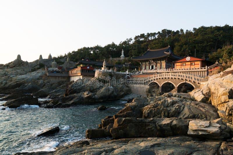 Haedong Yonggungsa Temple in morning in Busan, South Korea.  royalty free stock photography