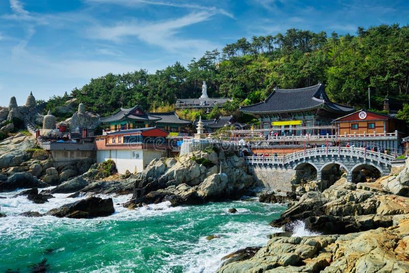 Haedong Yonggungsa Temple. Busan, South Korea. Haedong Yonggungsa Temple on sea shore. Busan, South Korea royalty free stock photo
