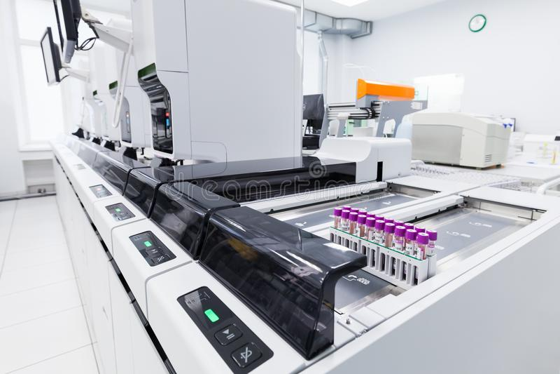 Haematology automatyzaci linia Sysmex fotografia stock