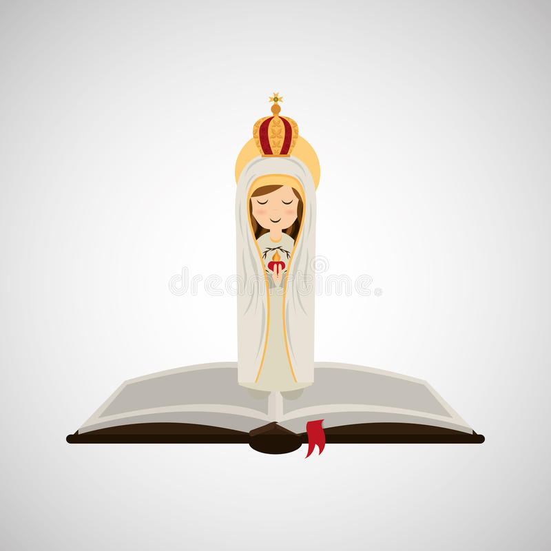 haert Jungfrau Maria der Religion catolic tadelloses Bibeldesign lizenzfreie abbildung