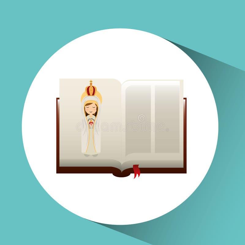 haert Jungfrau Maria der Religion catolic tadelloses Bibeldesign stock abbildung