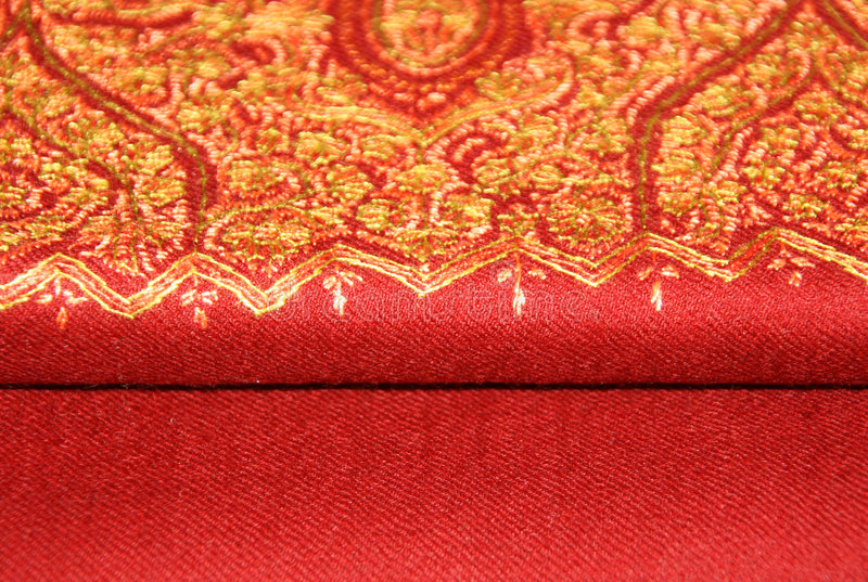 hafciarska pashmina czerwieni chusta obraz royalty free