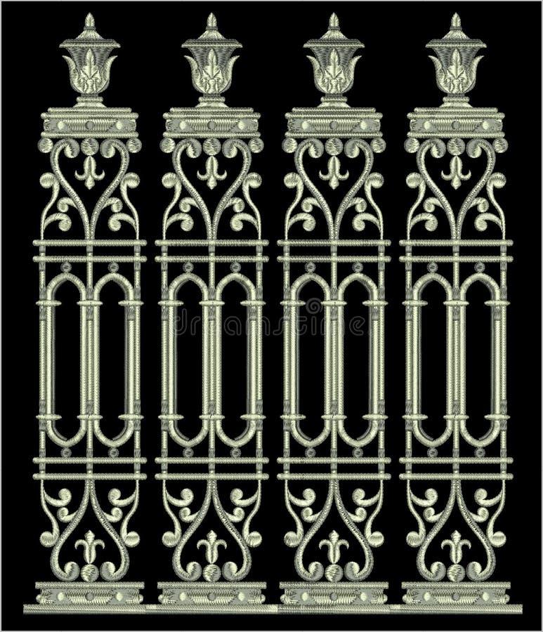 Hafciarski Motitf druku Tekstylny projekt Dla Mughal sztuki Illustrat, ilustracja obraz royalty free