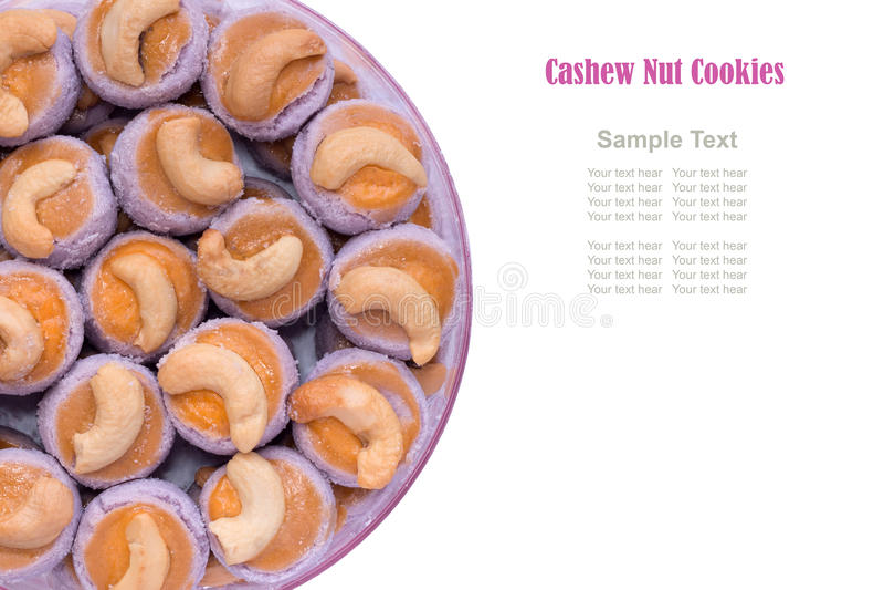 Hafe de las galletas del anacardo fotografía de archivo libre de regalías