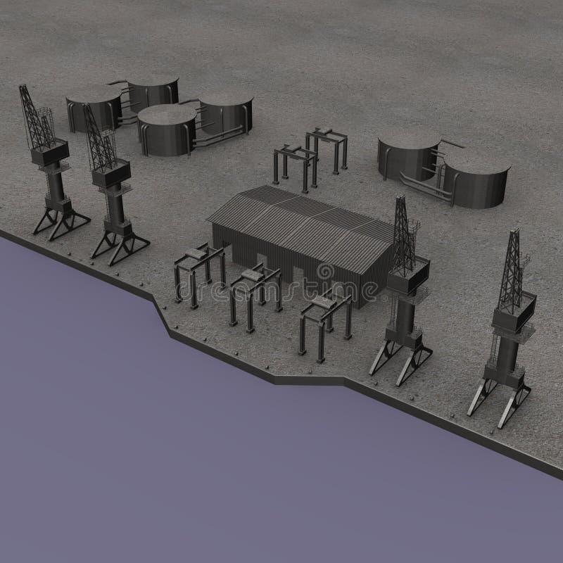 Hafen stock abbildung