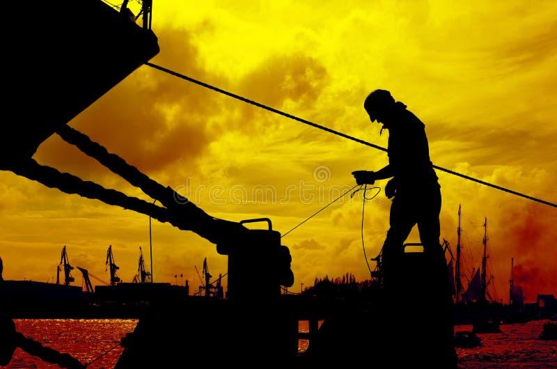 Am Hafen lizenzfreie stockbilder