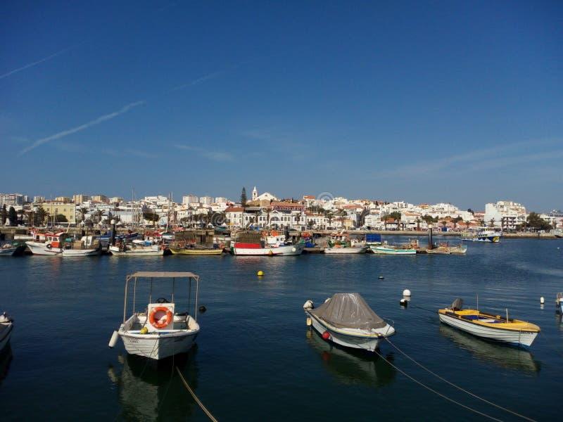 Hafen in Algarve lizenzfreies stockbild