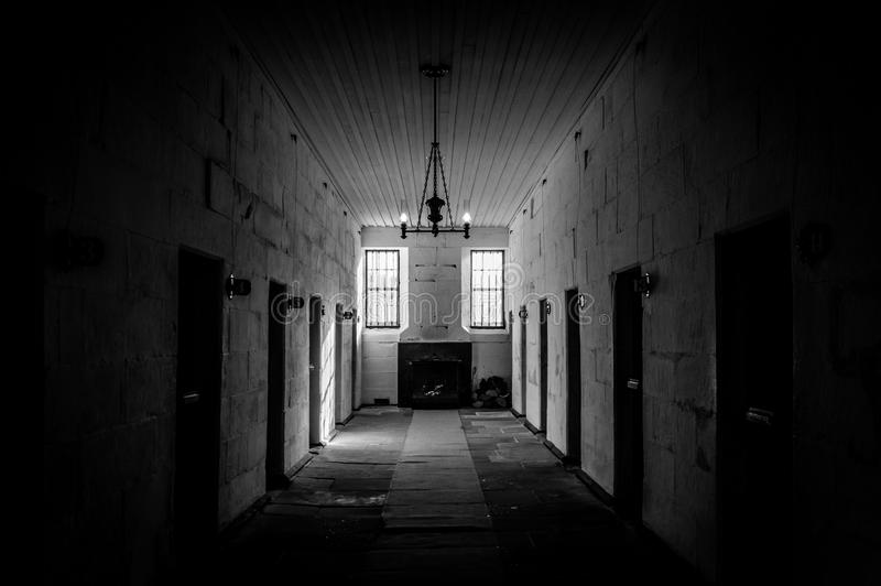 Hafen Arthur Penal Colony Prison Interior in Tasmanien, Australien stockfotos