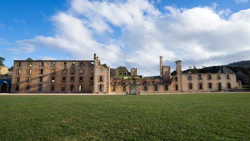 Hafen Arthur Tasmania Penitentiary Building Ruins stockfotos