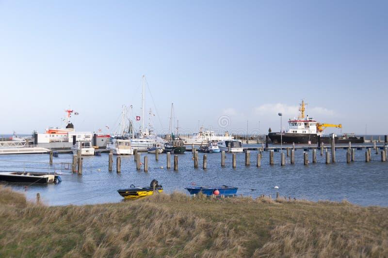 Hafen auf Amrum stockfotos