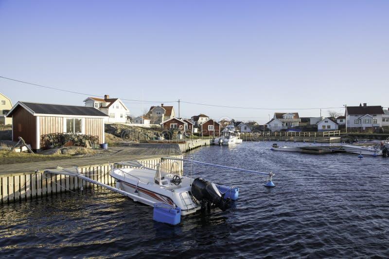 Hafen auf Vrango-Insel, Gothenburg, Schweden lizenzfreies stockfoto
