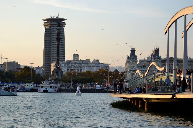 Hafen Barcelona stockbild