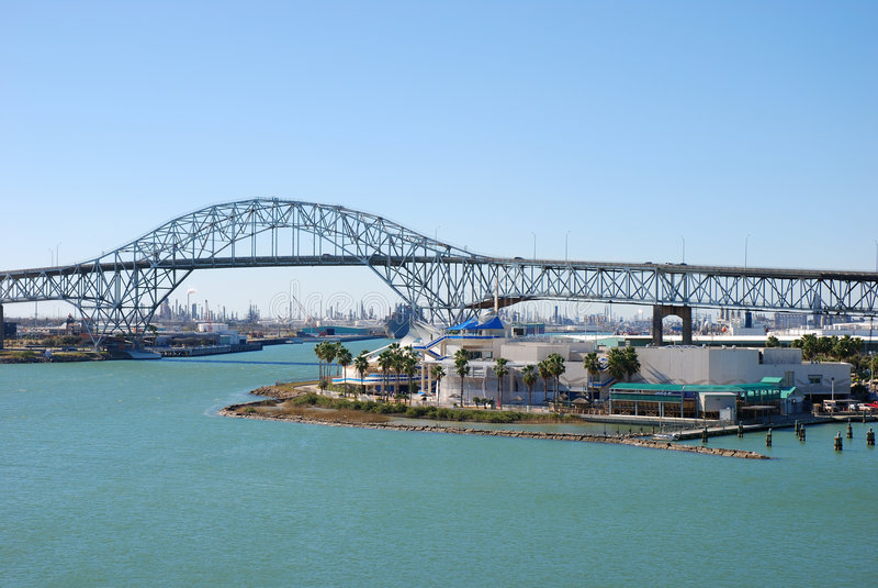 Hafen-Brücke in Corpus Christi lizenzfreie stockfotografie
