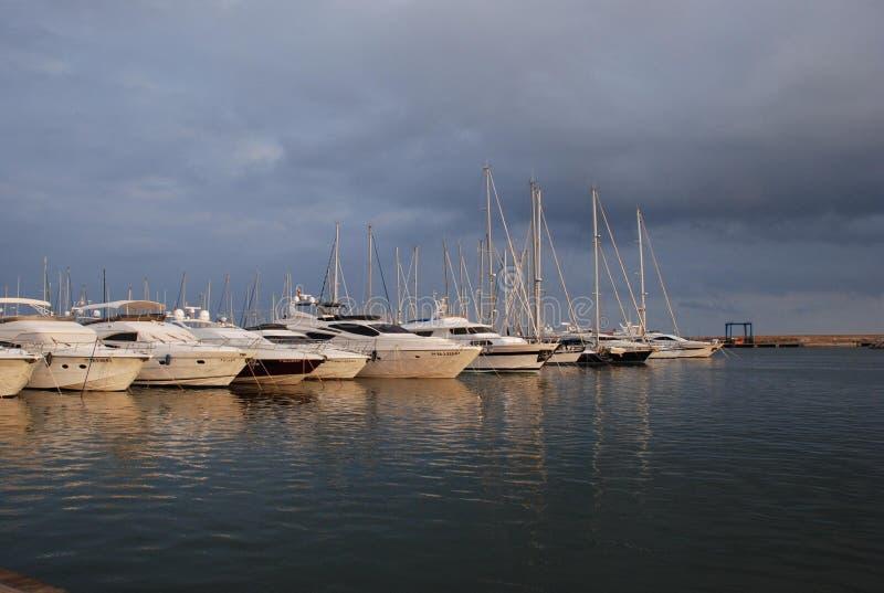 Hafen in Cambrils, Espania stockfoto