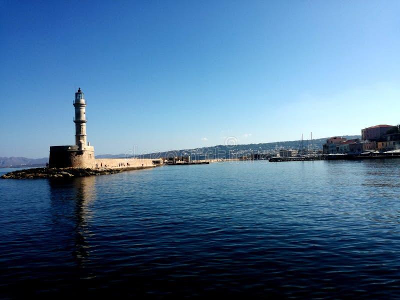 Hafen in Chania, Kreta lizenzfreies stockbild